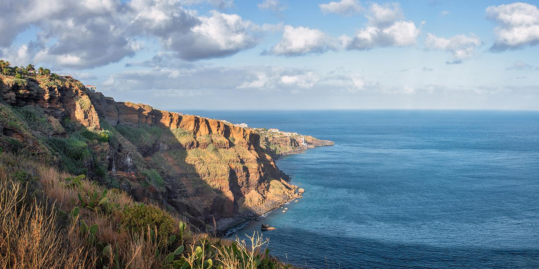 Leinwandbild - Steilküste von Madeira